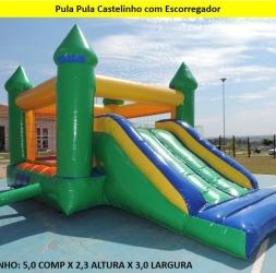 PULA PULA CASTELINHO COM ESCORREGADOR